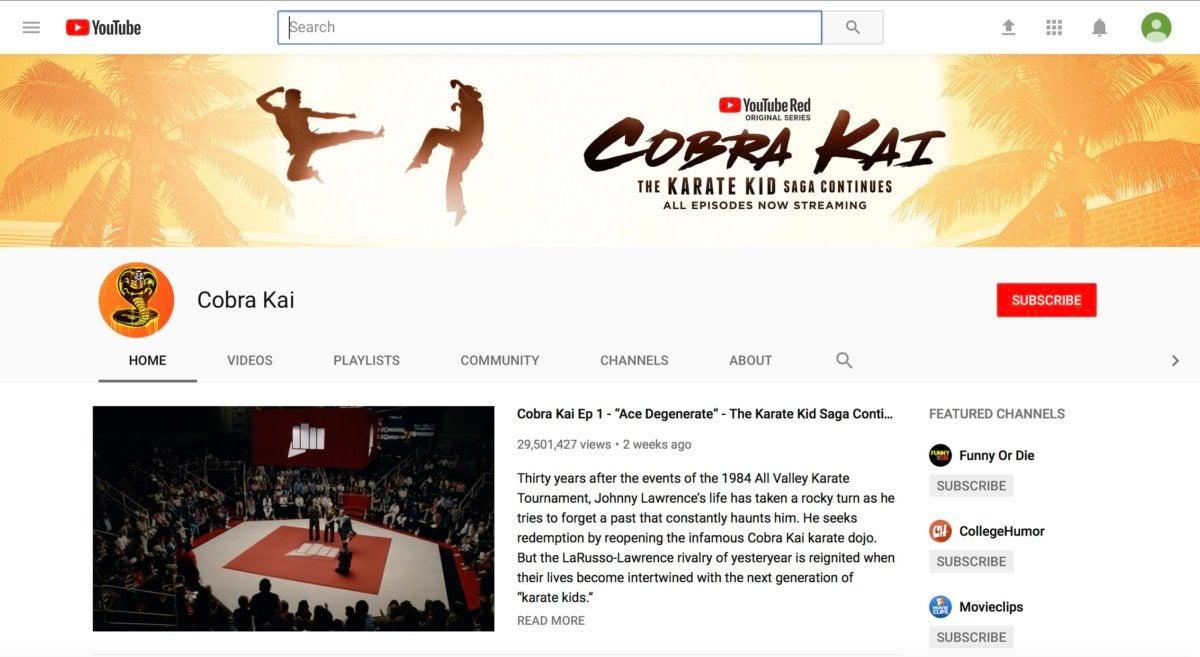 youtube cobra kai
