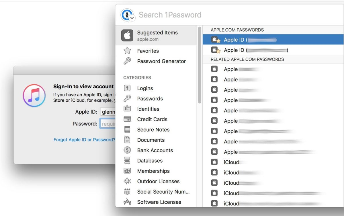 1password7macos app specific display