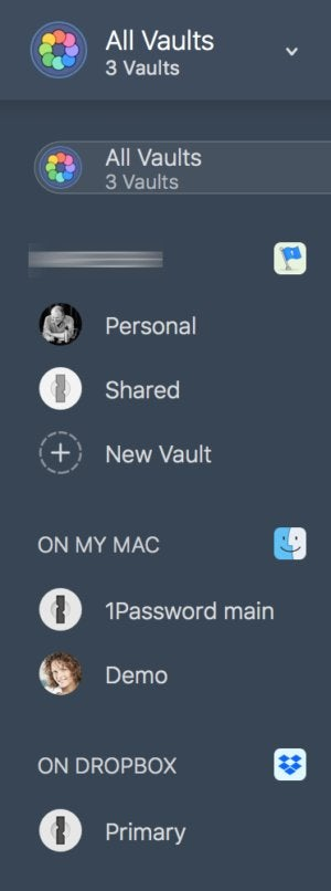 1password7macos better access to vaults blurred
