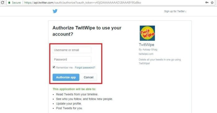 3 authorise twitwipe