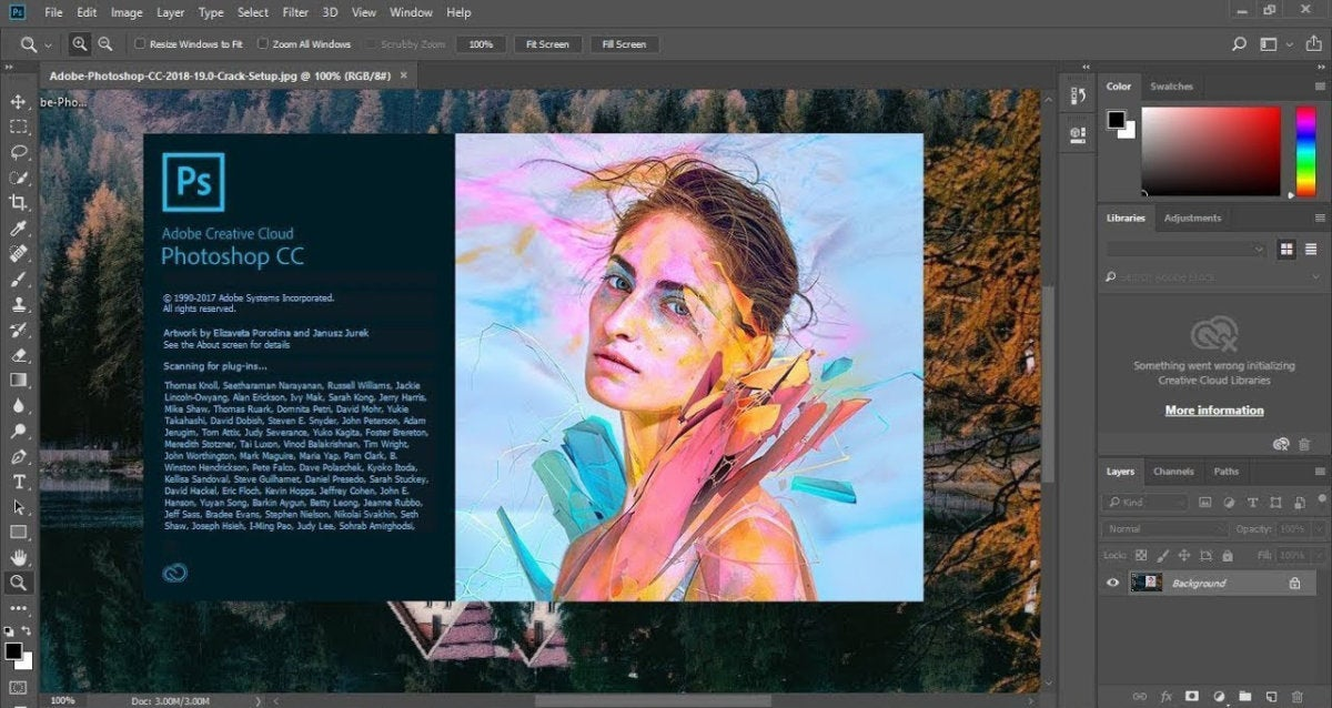 adobe photoshop cc software cd