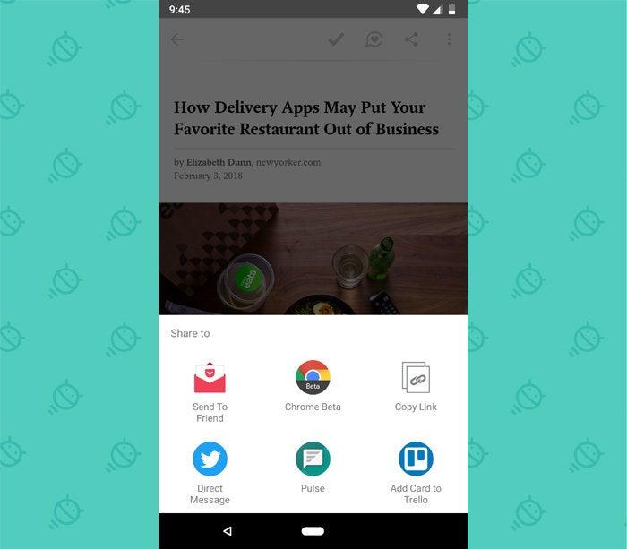 Android Sharing: Pocket