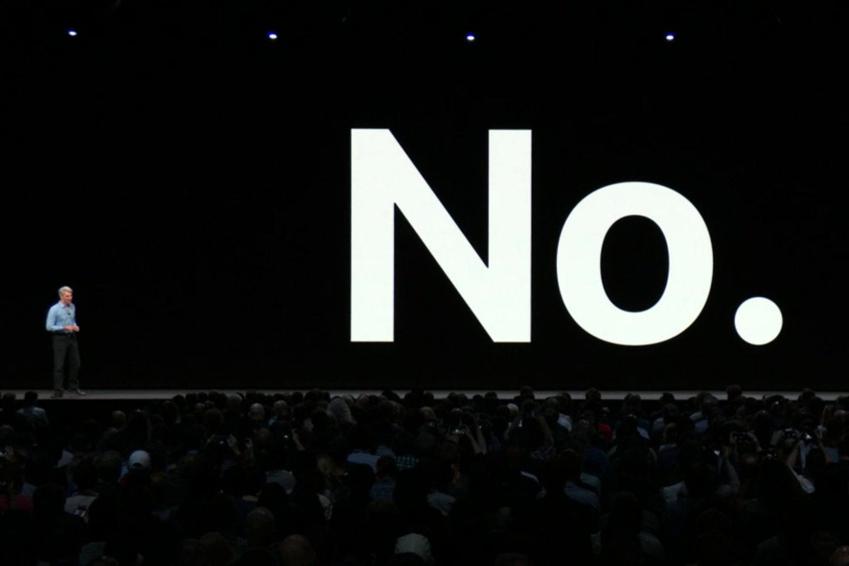 apple wwdc 2018 craig federighi no