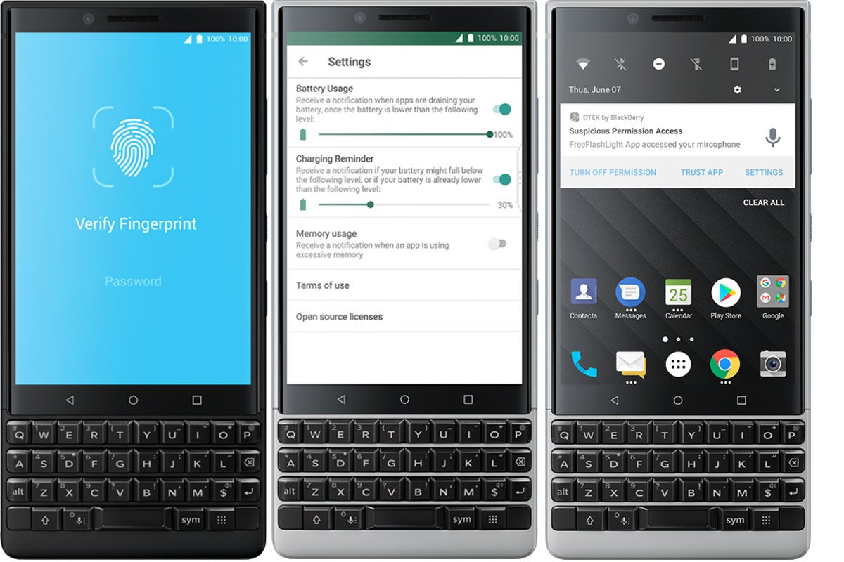 blackberry key2 security