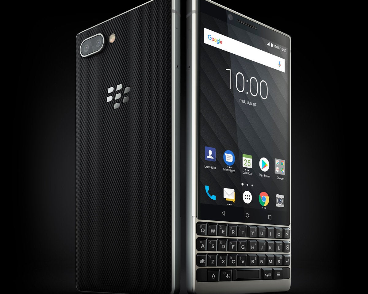 blackberry key2 silver2