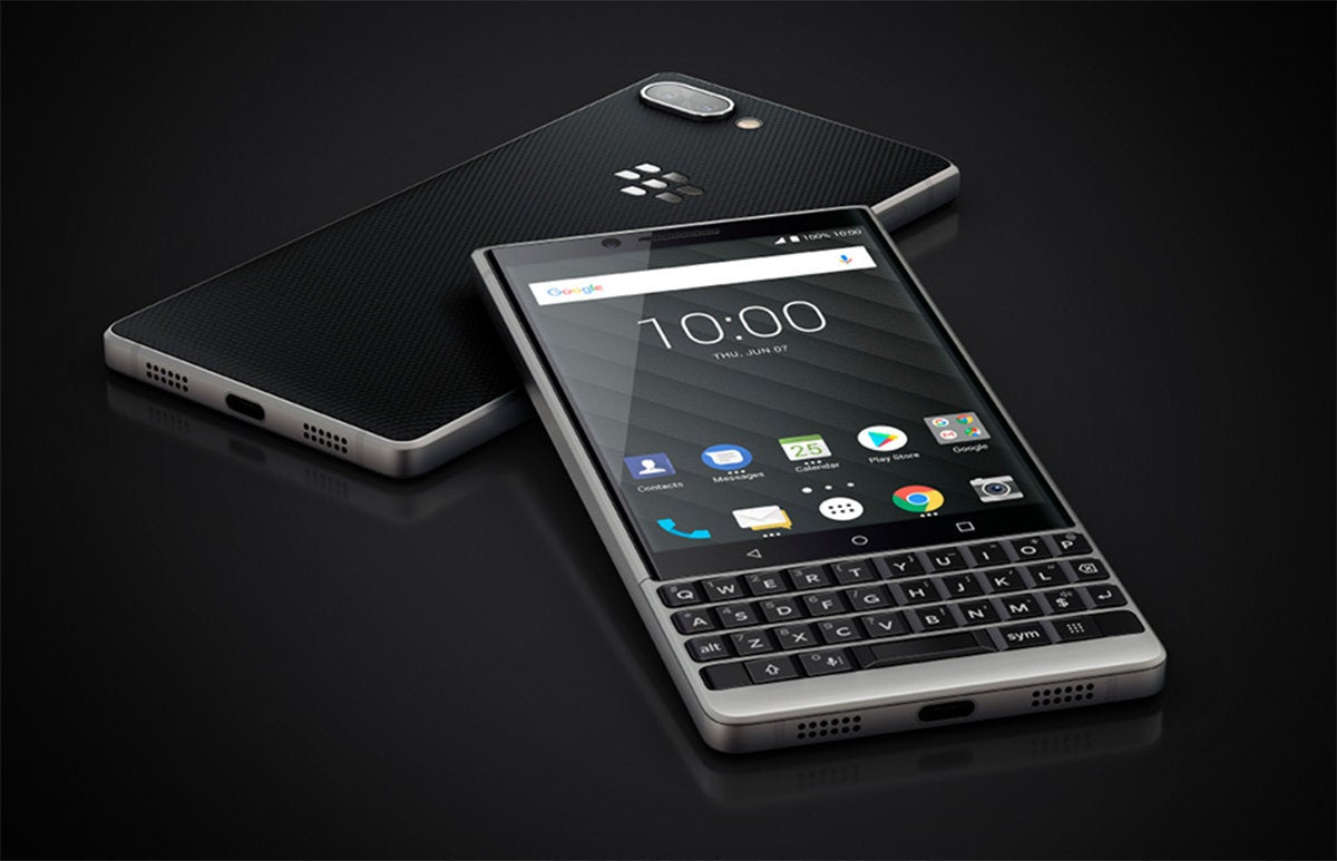 blackberry keytwo silver