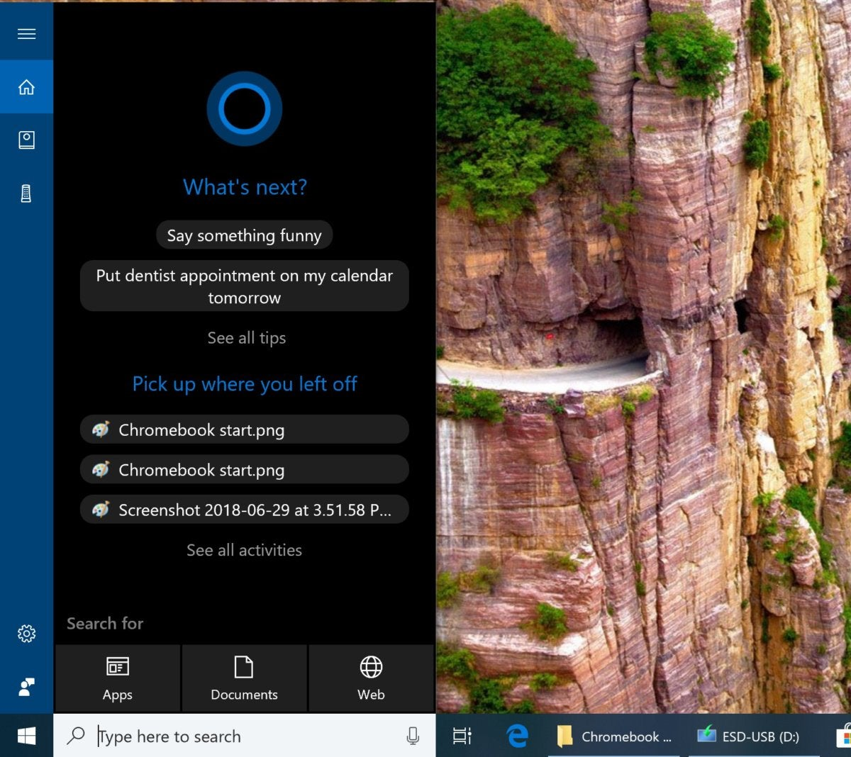 cortana on windows