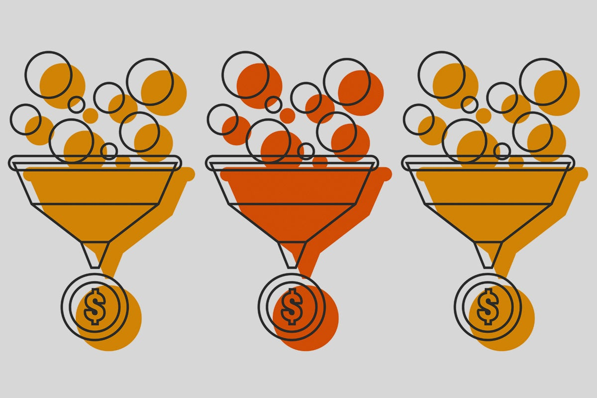 data funnels with money coin monetization of data funnel