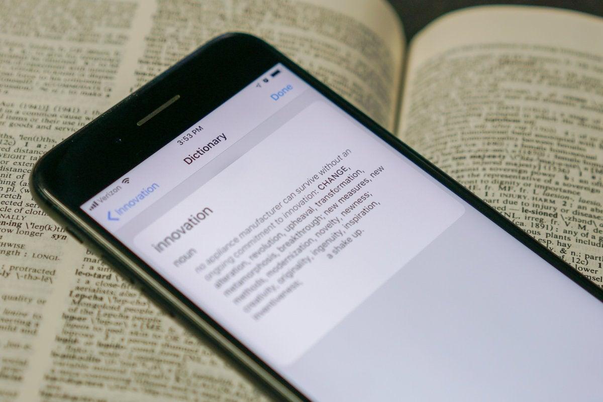 Thesaurus in iOS 12