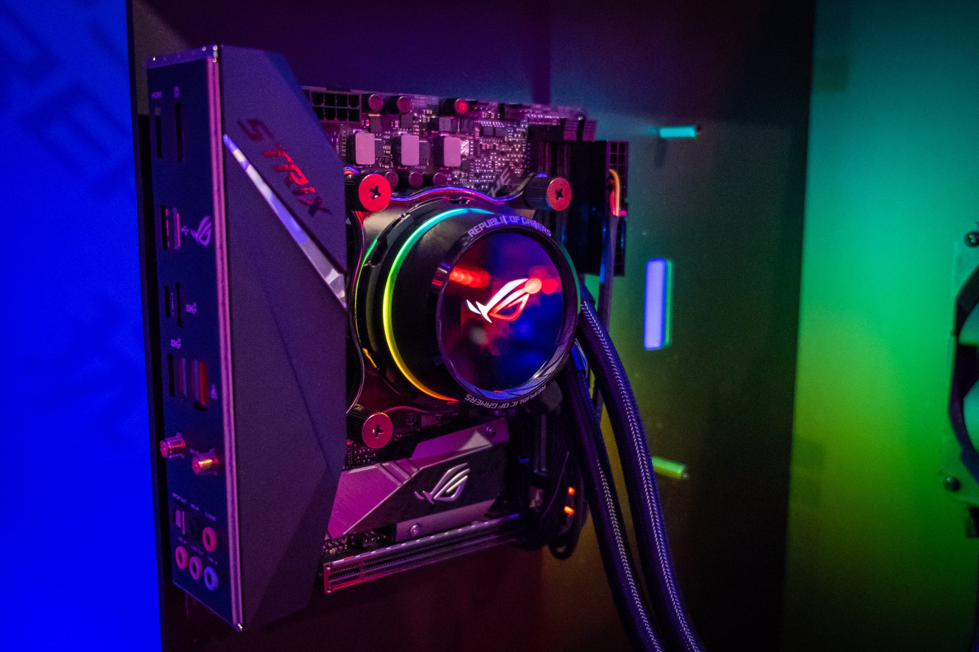 Asus integrates OLED displays into ROG power supplies and