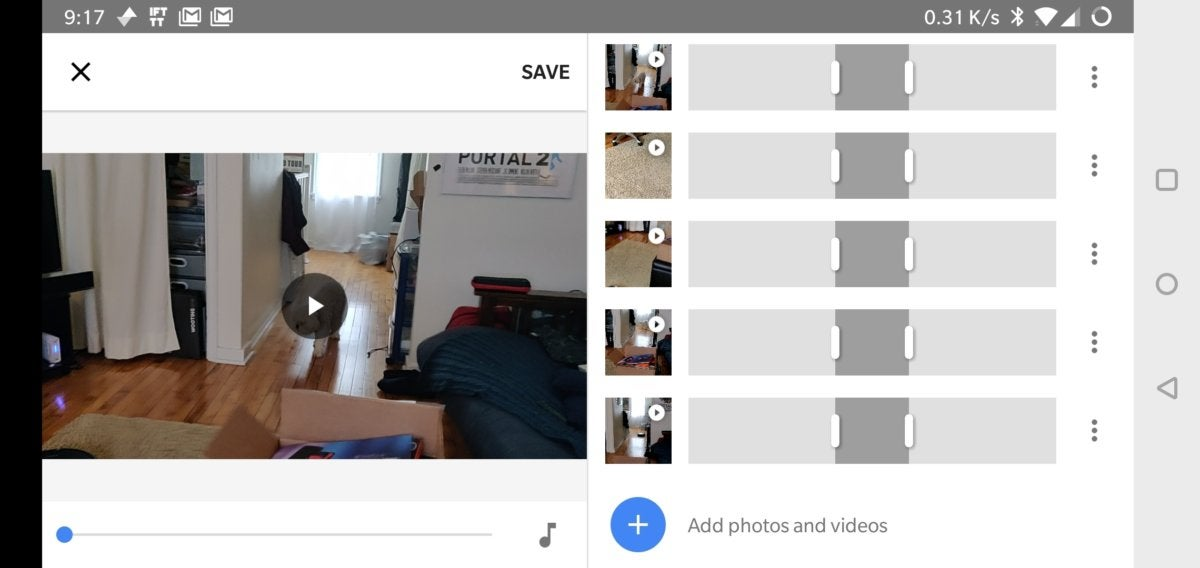 edit videos in Google Photos