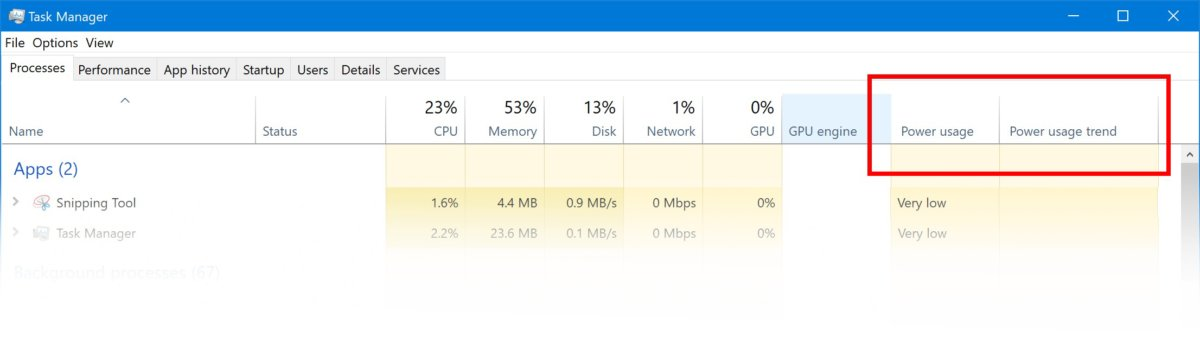Microsoft Windows 10 insider power usage
