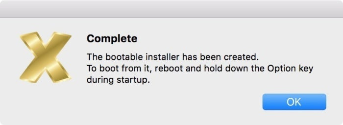 install disk create mojave done