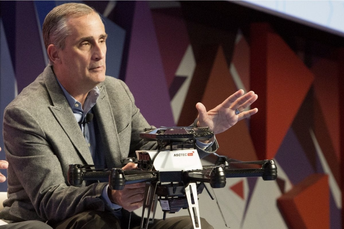 intel brian krzanich mobile world congress 2016 drones 2