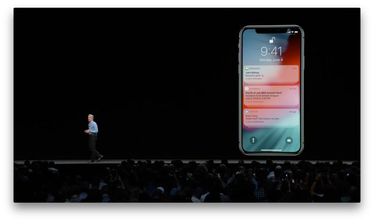 ios 12 notifications grouped
