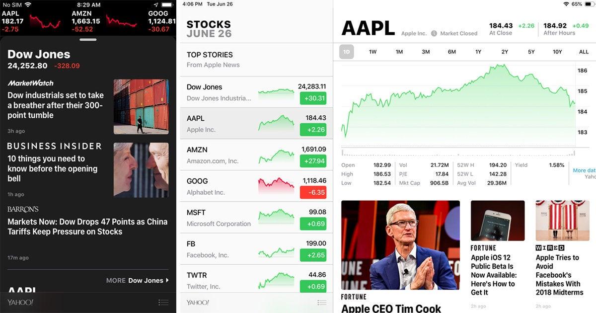 ios 12 stocks