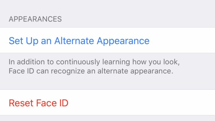 ios12 faceid alternate