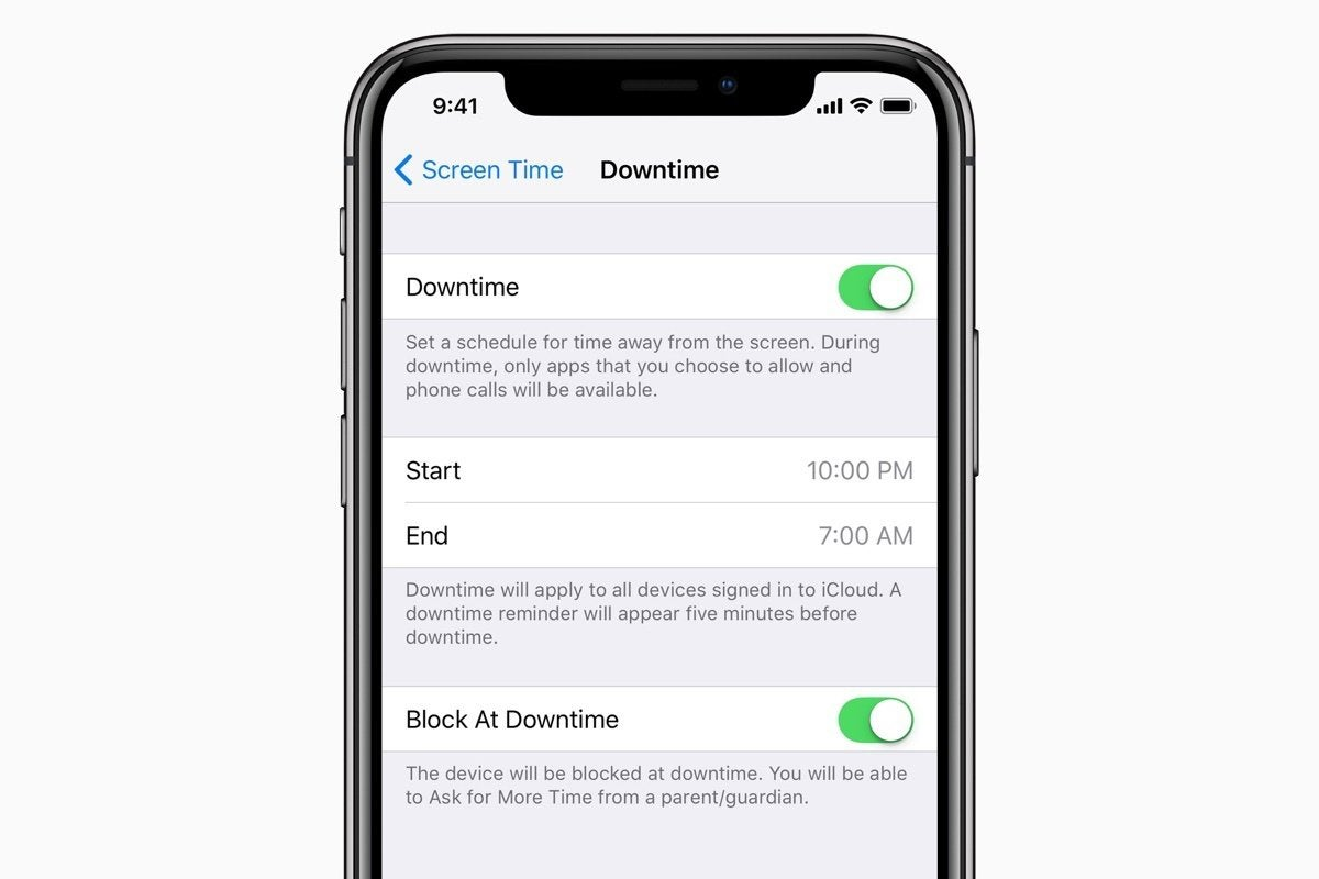 ios12 screen time downtime