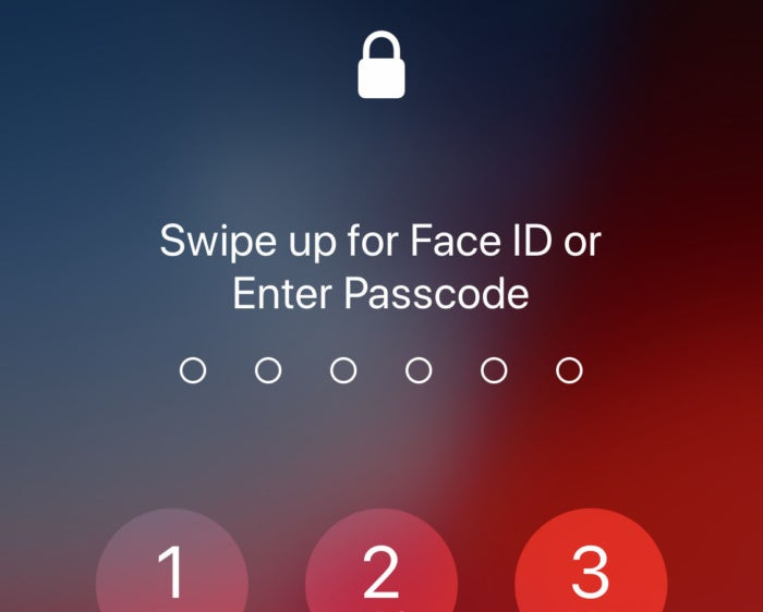 ios12 swipe up faceid