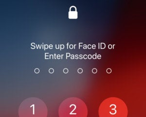 ios12 swipe up faceid
