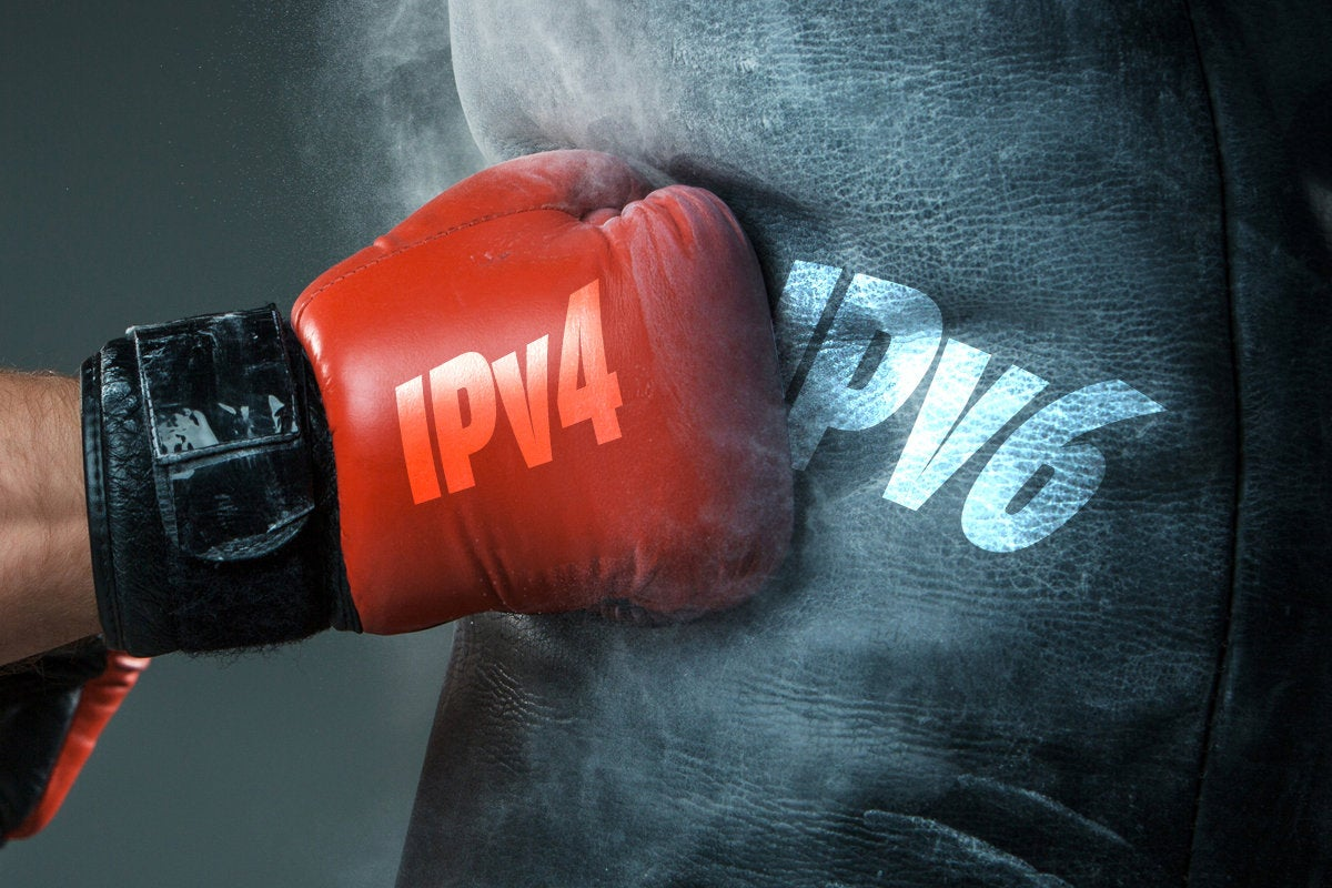 ipv6 versus ipv4 battle boxing glove
