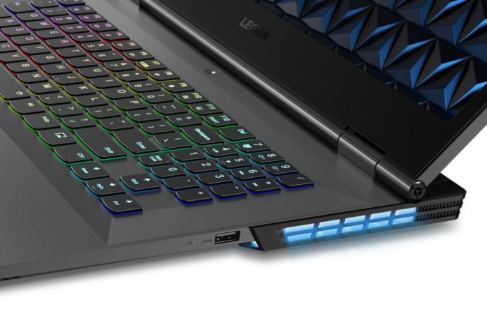 lenovo legion y730 laptop 17 inch corsair icue rgb backlit keyboard detail