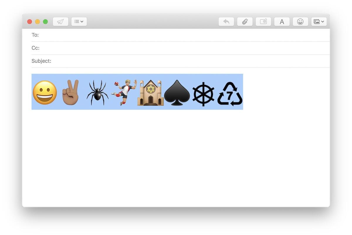 macos mojave biogger emoji