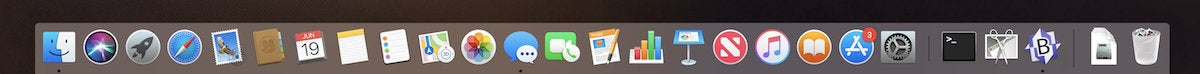 macos mojave dock recents