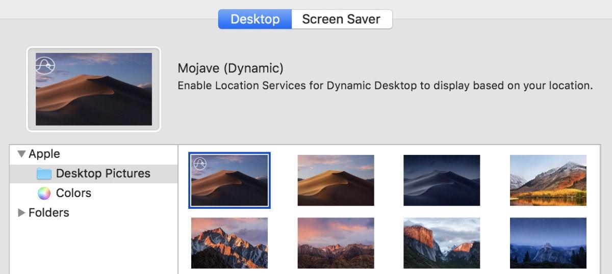 macos mojave dymaic desktop icon
