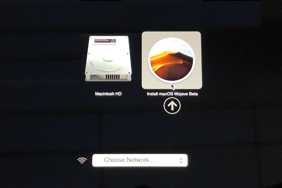 macos mojave select boot