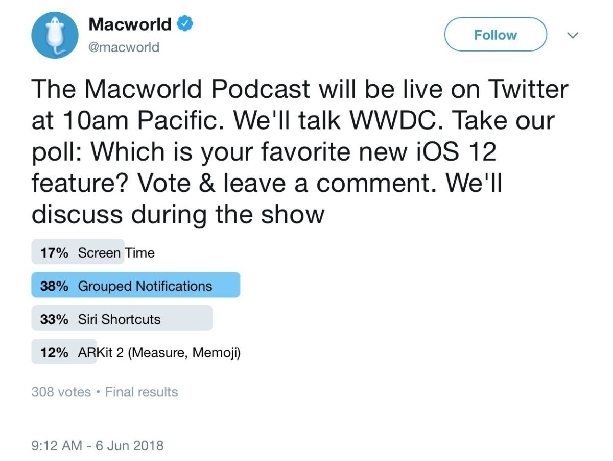 macworld podcast poll 20180606