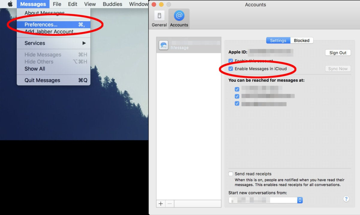 messages icloud how to mac