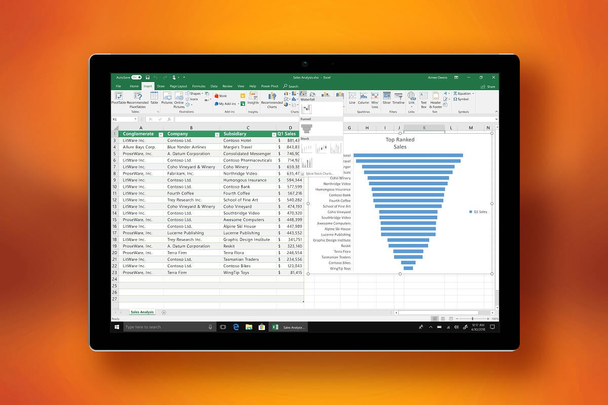 microsoft office 2019 new chart types include funnel charts and 2d maps 100761783 large.3x2 - Microsoft announces Office 2021 for the same price as Office 2019