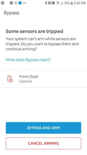 Ring Alarm sensor bypass