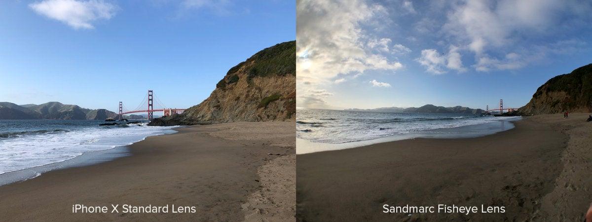 Sandmarc Fisheye Comparison Golden Gate Bridge