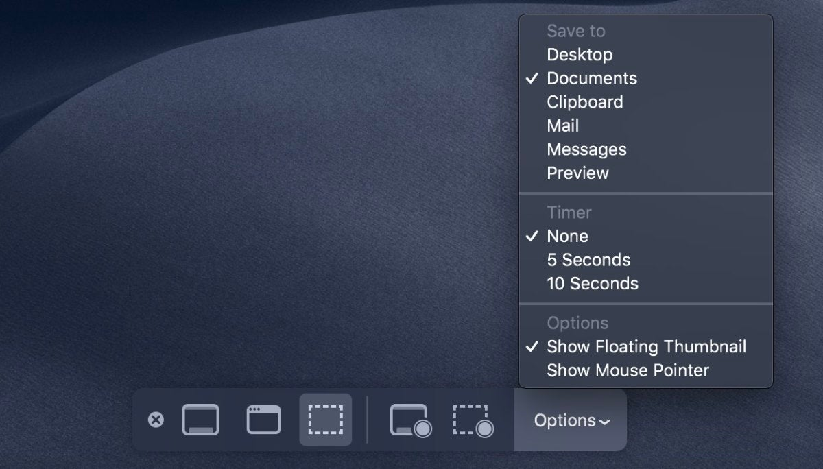screenshot utility menu