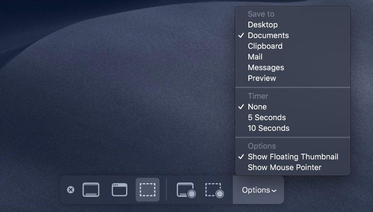 screenshot utility menu