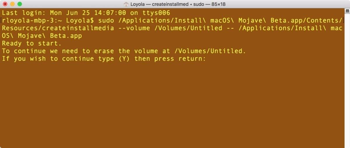 terminal mojave boot drive 2