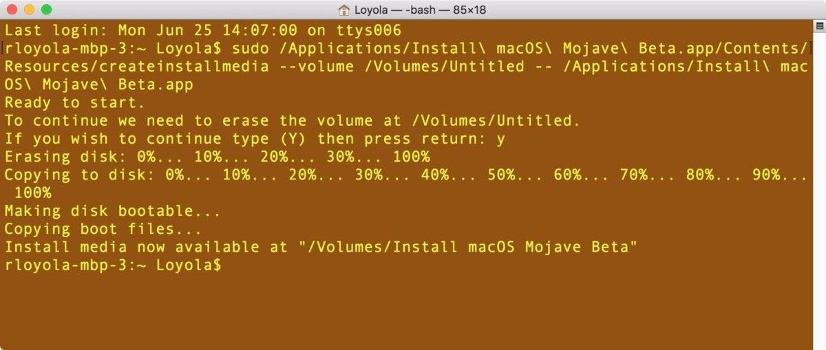 terminal mojave boot drive 4