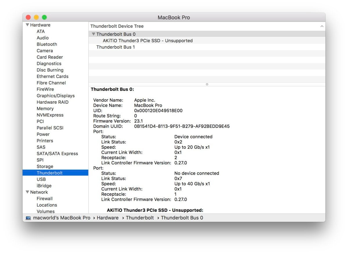 thunder3 intel 750 macbook pro unsupported ti chip