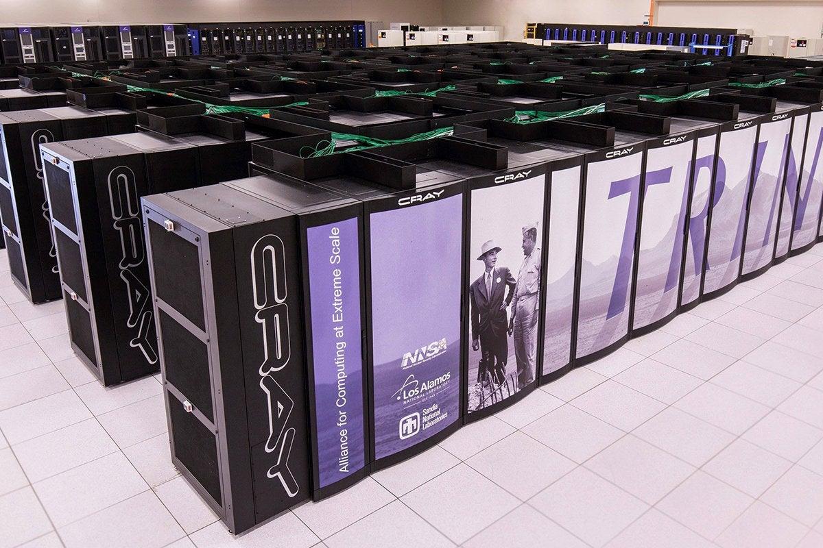 The Trinity supercomputer at the Los Alamos National Laboratory [LANL]