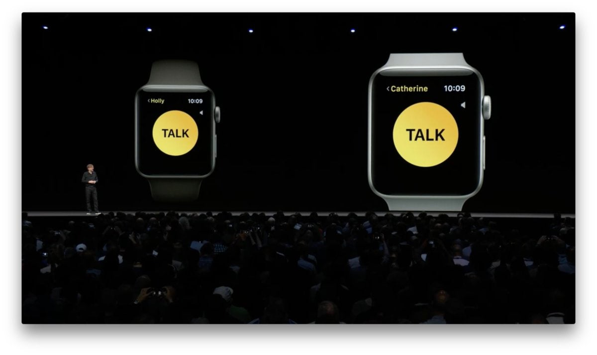 watchos 5 walkie talkie