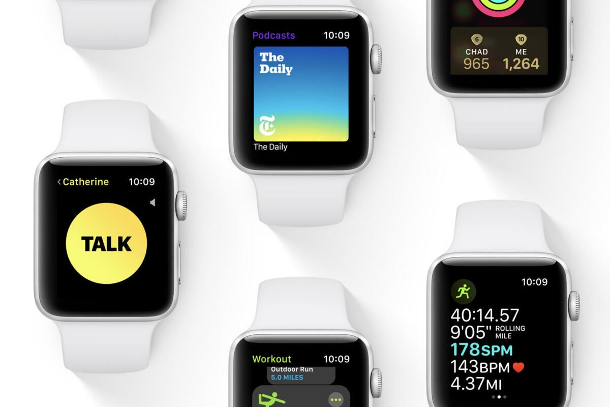 photo image watchOS 5: Walkie-talkie, workout improvements, Podcasts, and a smarter Siri
