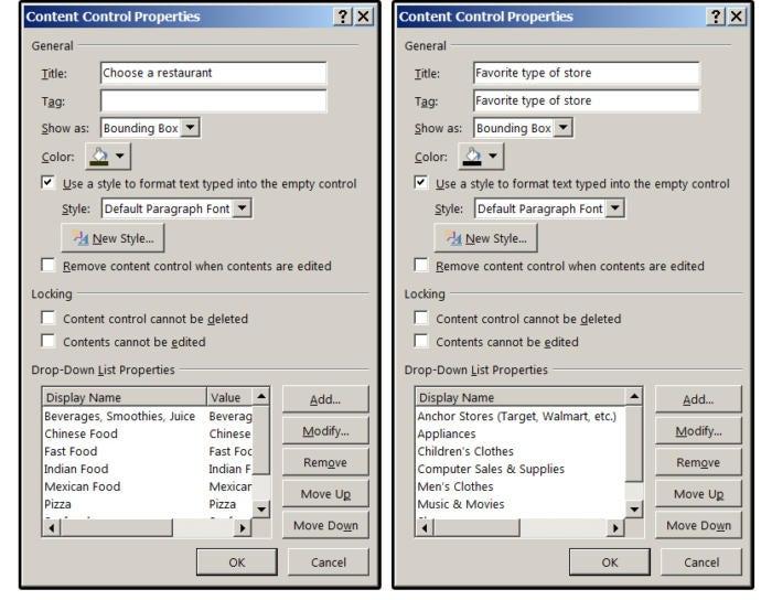 02 combo box and drop down list box properties