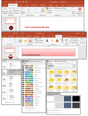 11 modify the slide master style sheet