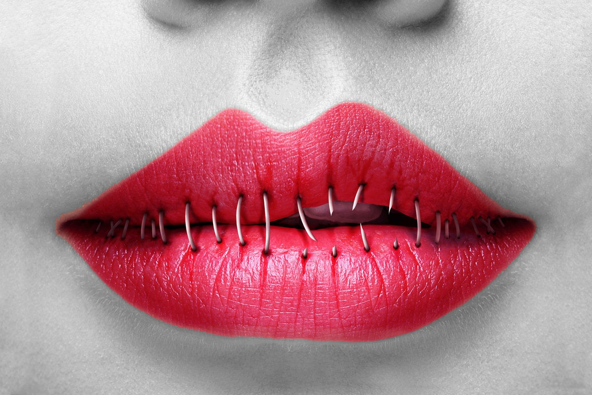 2 cant define it red lips stapled shut silenced