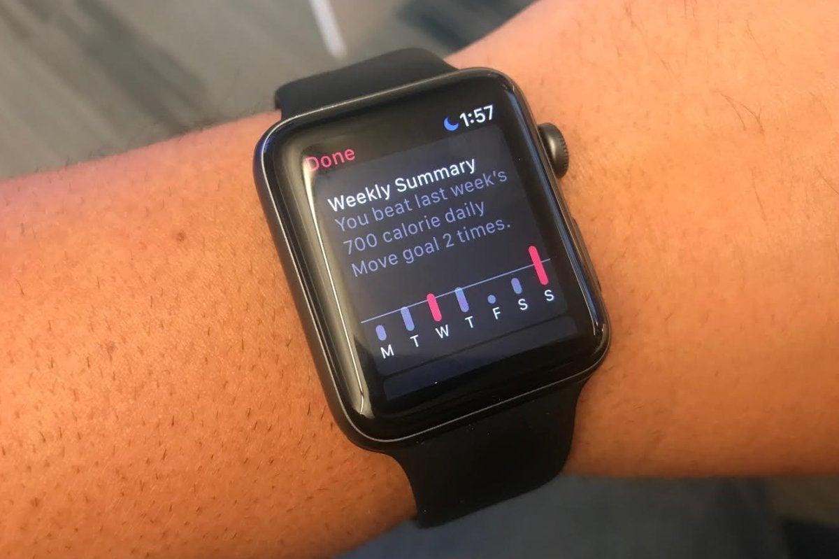apple watch weekly summary
