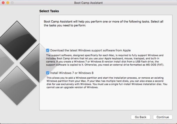 boot camp assistant windows 7 and 8