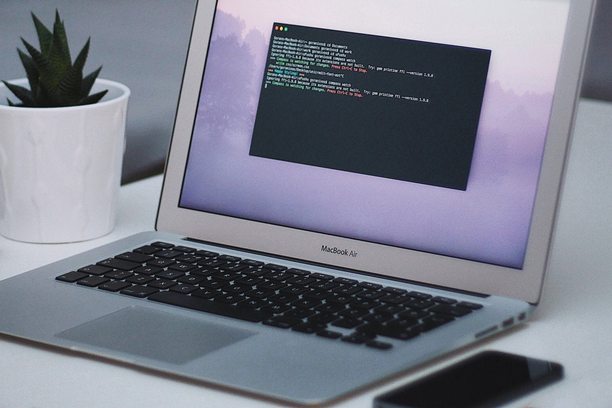 compiling / code / coding / programming / MacBook Air laptop