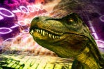 Dinosaurs / Tyrannosaurus Rex / Jurassic / Prehistoric / Ancient / Old / Outdated / Binary